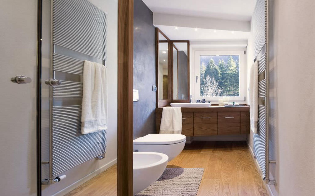 bagno moderno / in legno - trend walnut by gianluca tomaselli - faoma - Bagni Moderni Legno