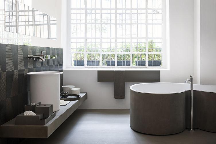 Vasca da bagno da appoggio / in Solid Surface / in legno - DR by ...