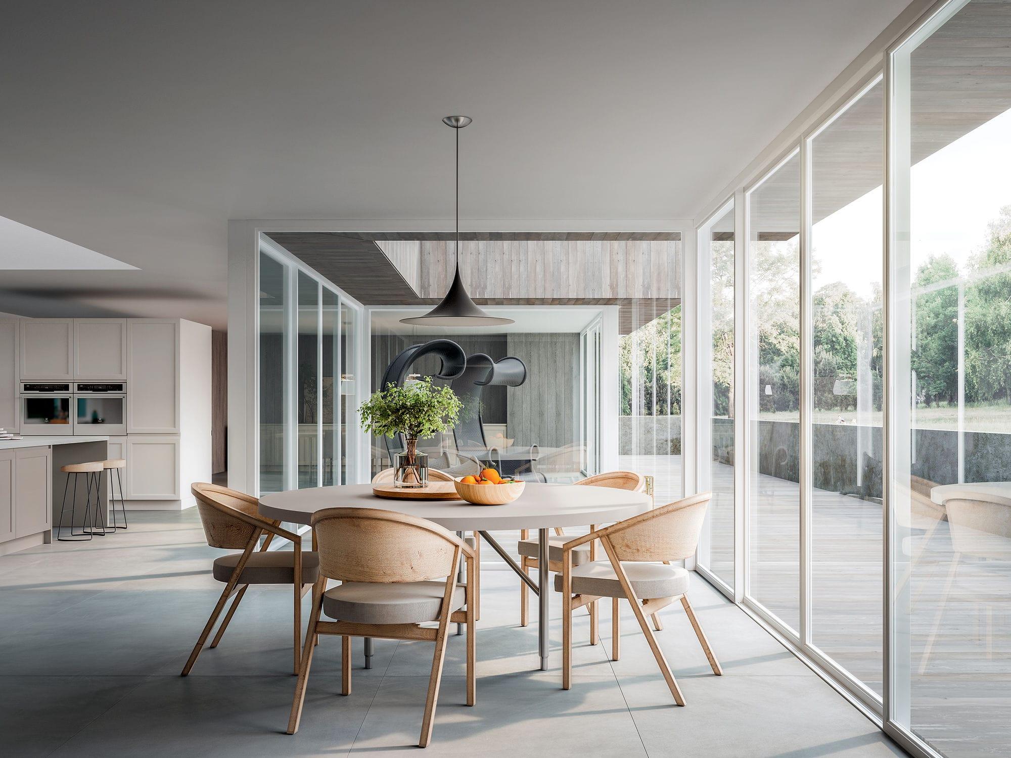Cucina moderna / in frassino / in legno massiccio / con isola ...