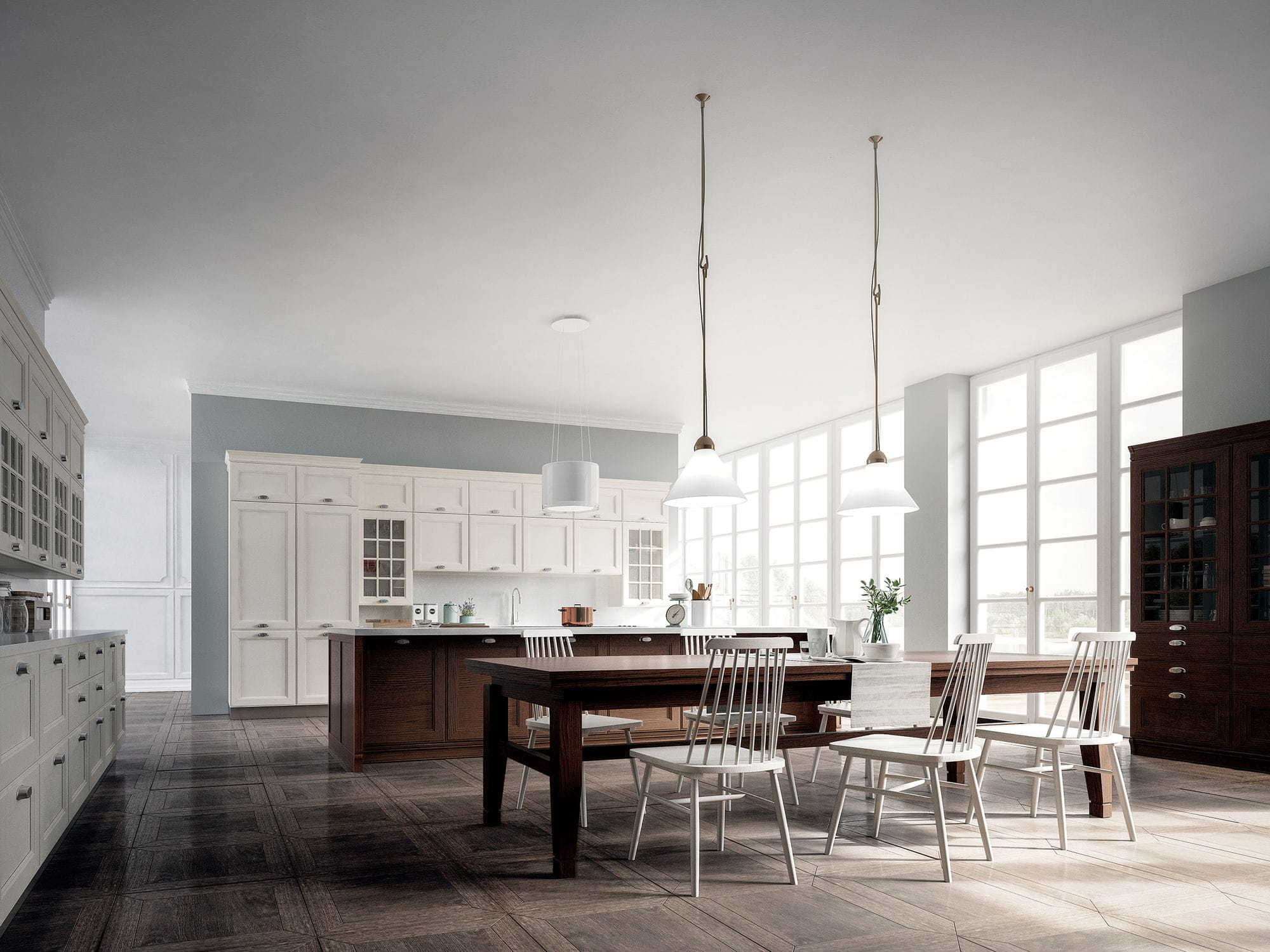 Mobili Cucina Legno Massiccio : Cucina classica in frassino in legno massiccio laccata