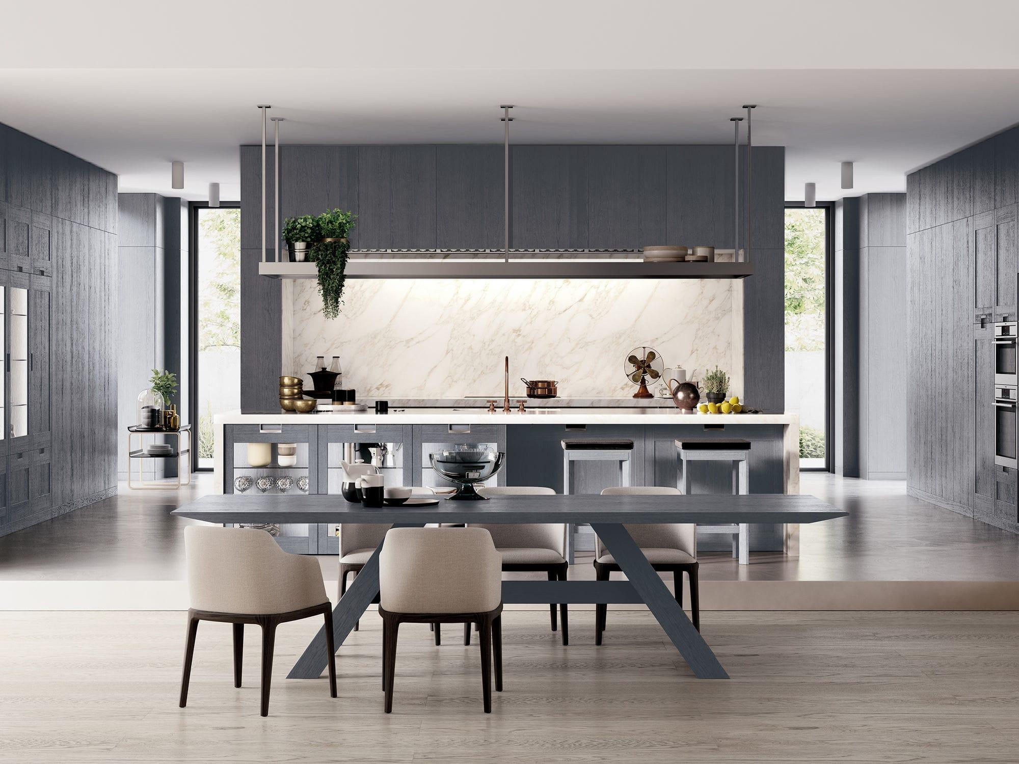 Cucina moderna / in legno massiccio / in quercia / in noce - FIAMMA ...