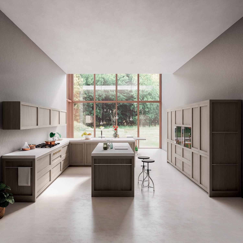 Cucina moderna / in legno massiccio / in quercia / con isola - LEGNO ...