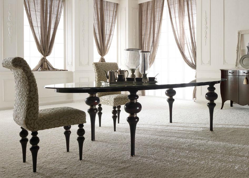 Tavolo da pranzo in stile / in legno / ovale - DOLCEVITA - GIUSTI PORTOS