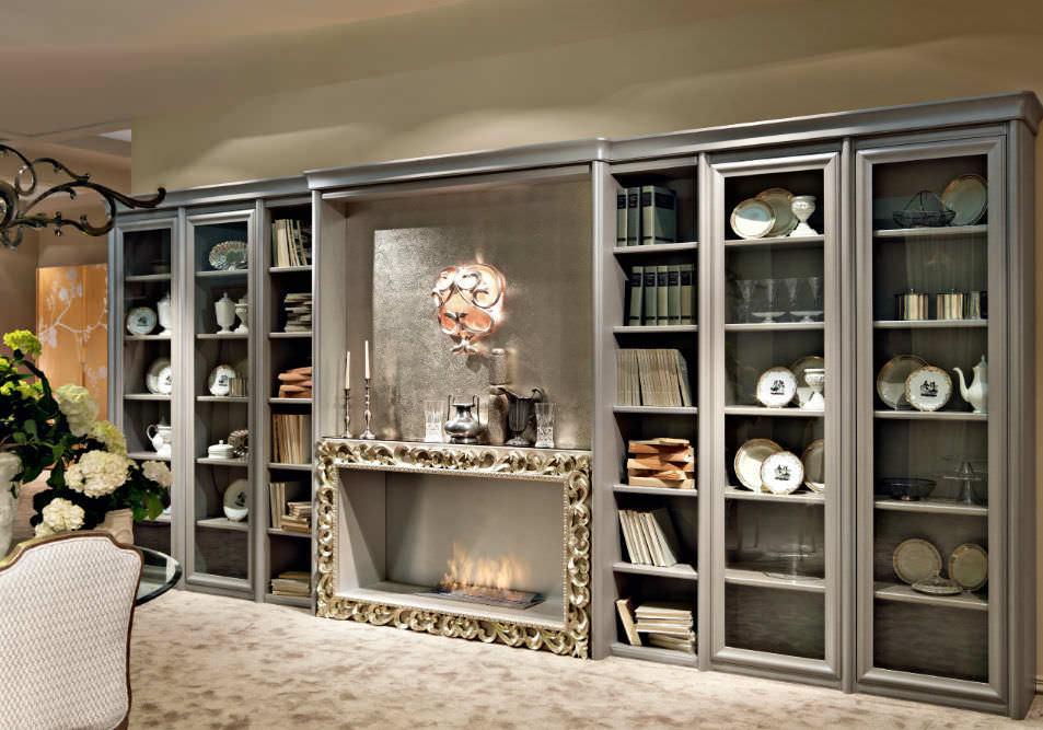 Libreria classica / in legno / in legno laccato - BRERA - GIUSTI PORTOS