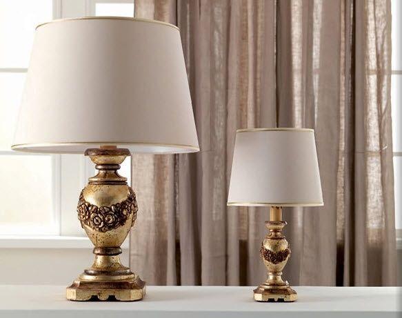 Lampada da tavolo / in stile / da interno / in tessuto - 1633 ...