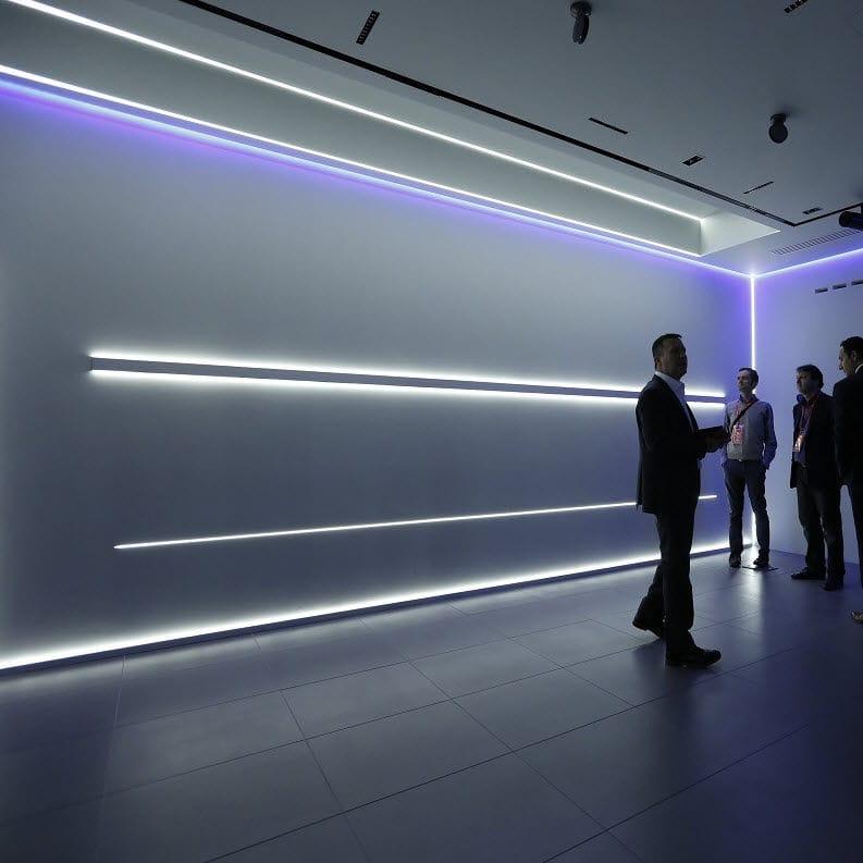 Profilo luminoso da incasso / sporgente / a muro / LED - UNDERSCORE6 ...