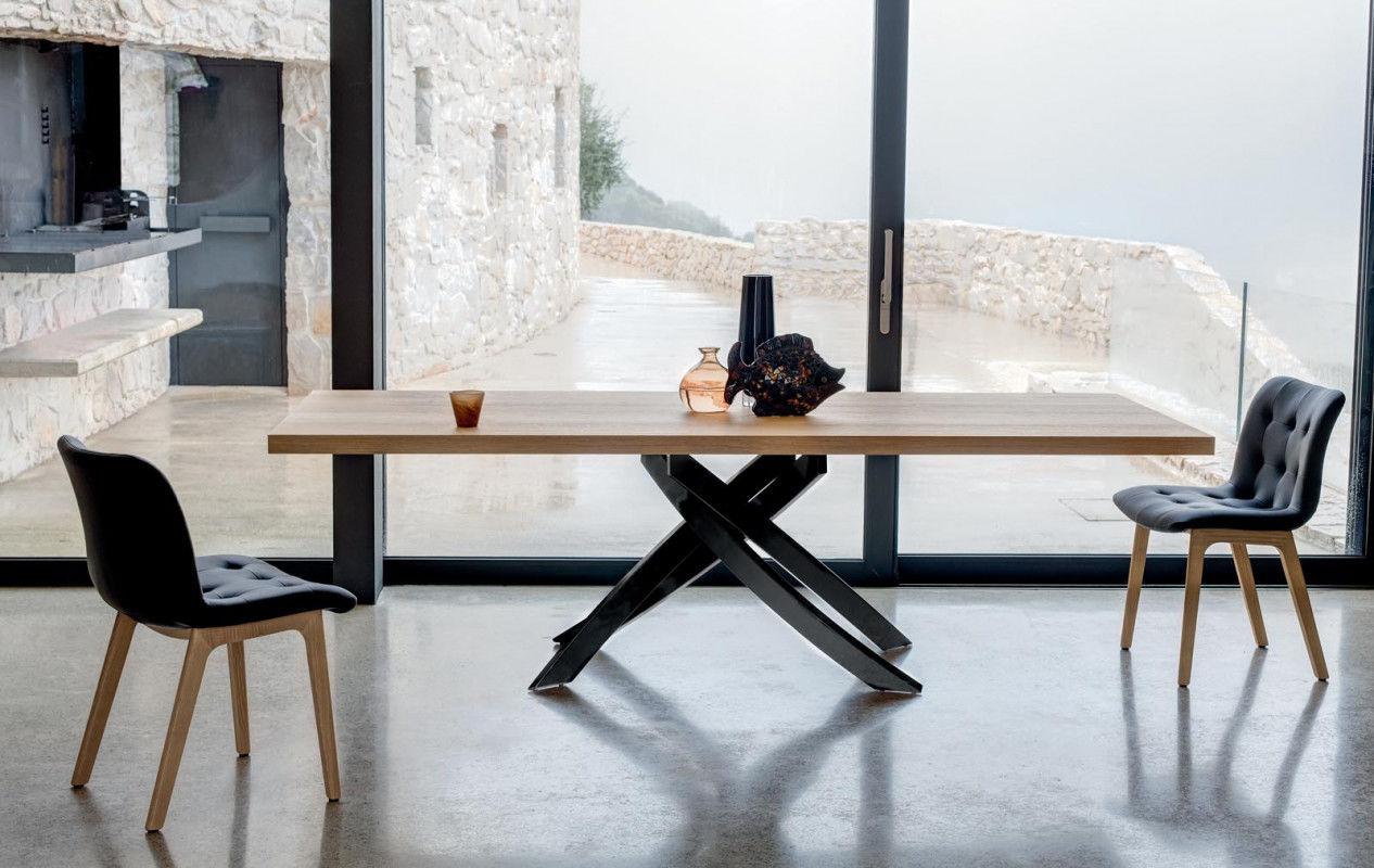 Tavolo Moderno Allungabile Bontempi.Tavolo Moderno In Metallo Laccato In Calcestruzzo