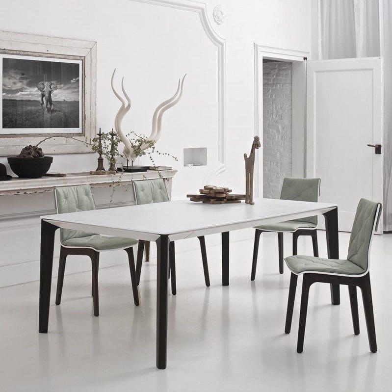 Tavolo moderno / in vetro / in legno massiccio / in legno laccato ...
