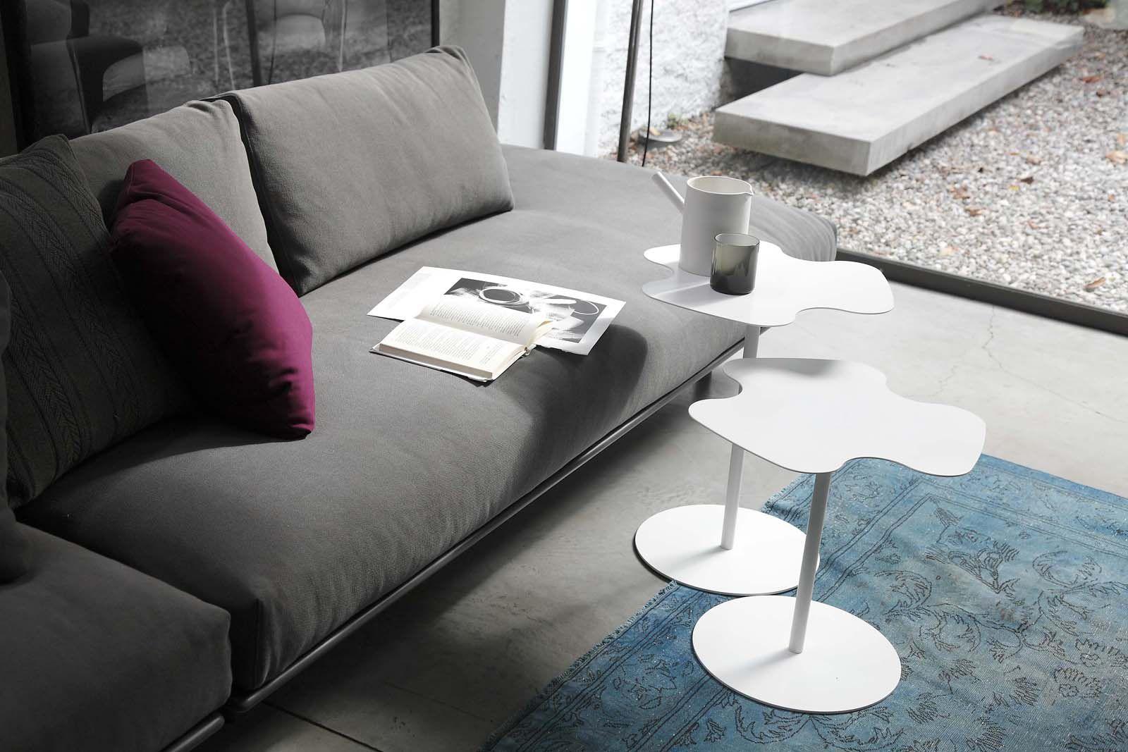 Tavolo d appoggio moderno in metallo flower bontempi casa