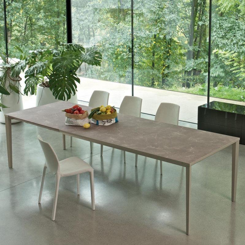 Tavolo moderno / in vetro / in metallo / in melamminico - ECHO IN ...