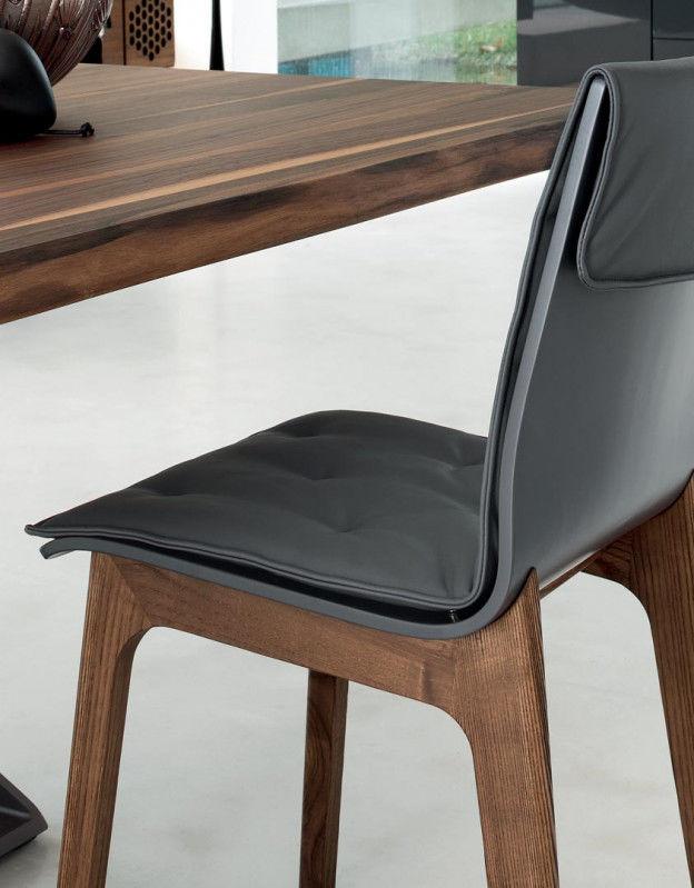 Sedia moderna / imbottita / in legno massiccio / in legno laccato ...