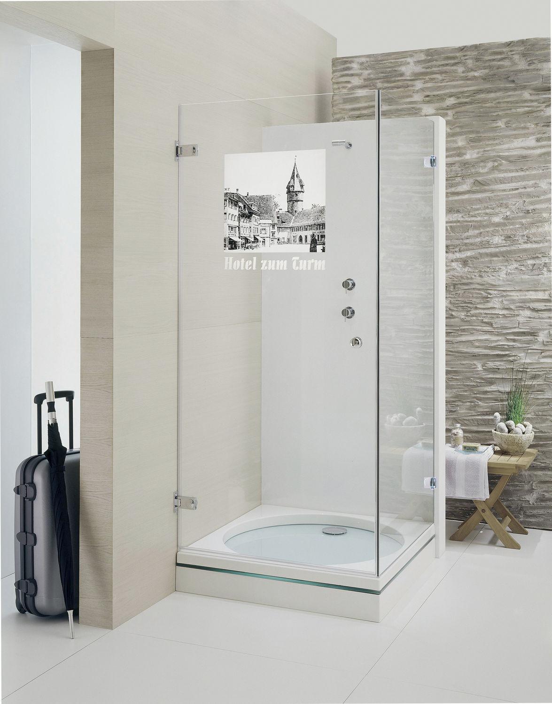 Box doccia in vetro / rettangolare / con porta battente - BERYLL ...