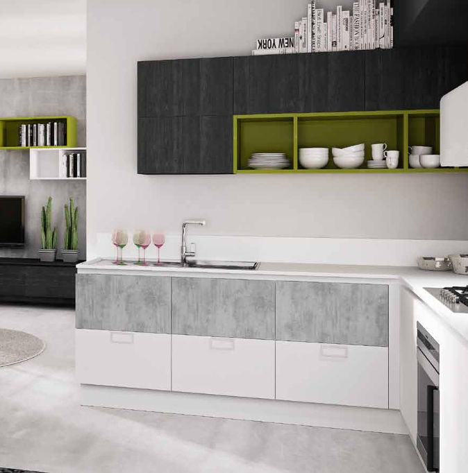 Cucina moderna / in legno / in melamminico / laccata - B50 - BERLONI