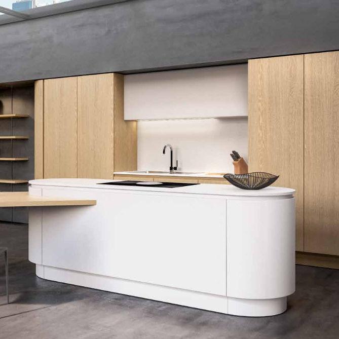 Cucina moderna / in legno / in laminato / con isola - B50 - BERLONI