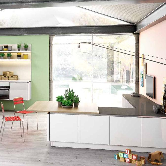 Cucina moderna / in laminato / a L / laccata - B50 - BERLONI