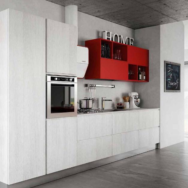 Cucina moderna / in melamminico / senza maniglie - BRERA - BERLONI