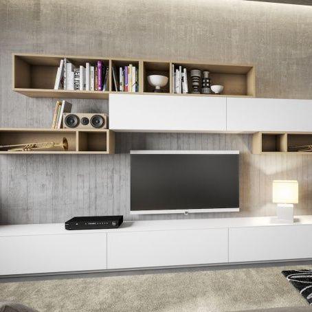 Parete attrezzata TV moderno / in melamminico - PLAN - BERLONI