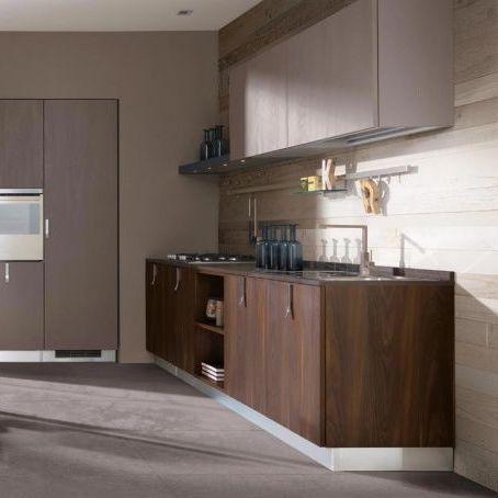 Cucina moderna / in legno / laccata / con impugnature - SUNNY - BERLONI