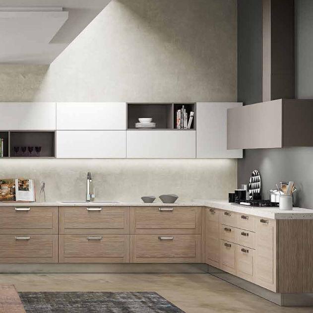 Cucina moderna / in legno / a L - MEDITERRANEA - BERLONI