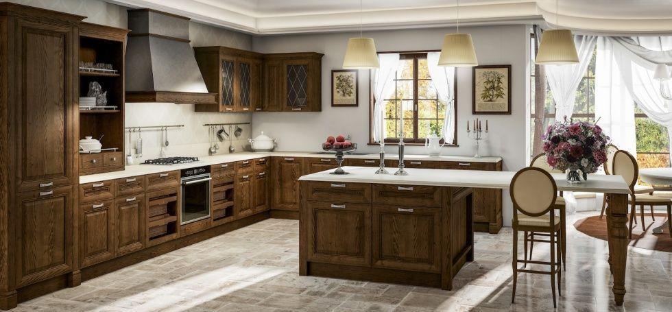 Cucina classica / in frassino / con isola - SHERATON - BERLONI