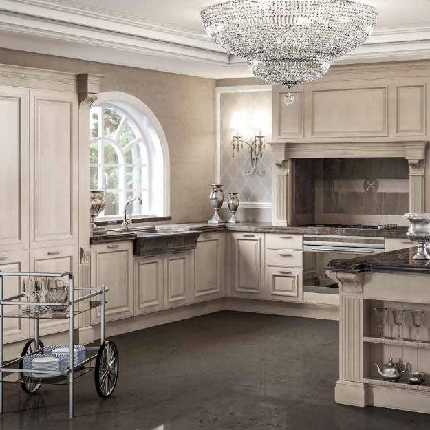 Cucina classica / in legno / a U / laccata - GRANGALA - BERLONI