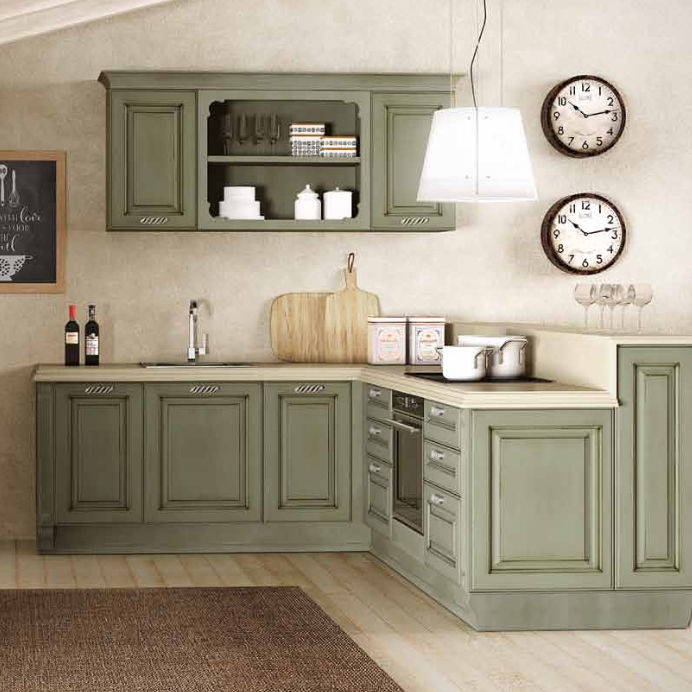 Cucina classica / in legno / a L / laccata - ATHENA - BERLONI
