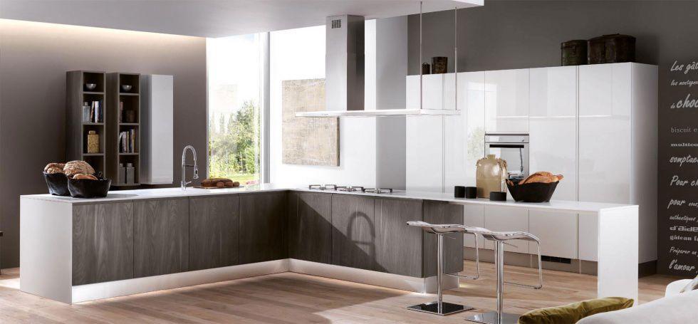 Cucina moderna / in melamminico / in legno / con isola - BRERA - BERLONI