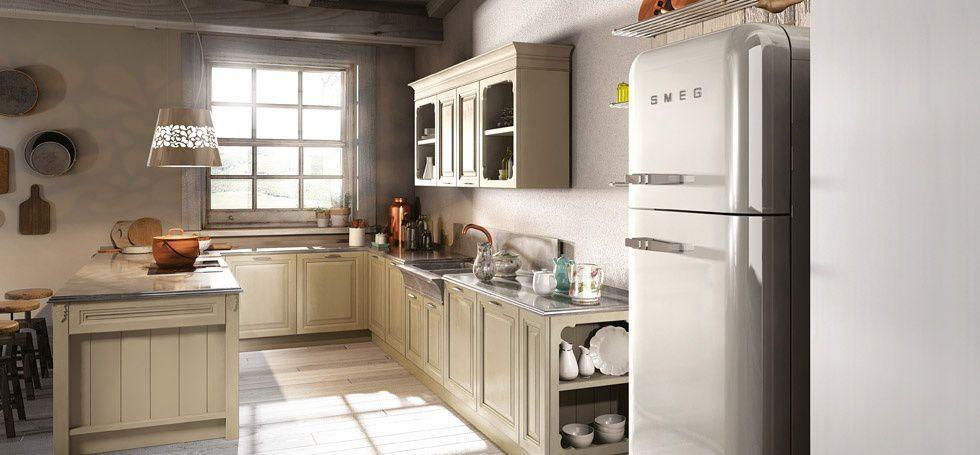 Cucina classica / in legno / con isola / laccata - FLORENCE - BERLONI