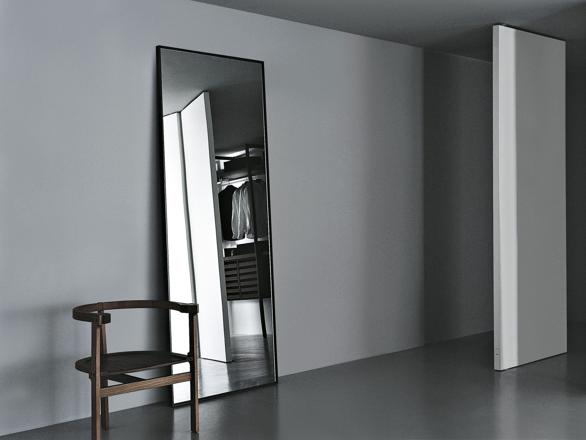 Specchio a muro / moderno / rettangolare / in metallo - REFLECTION ...