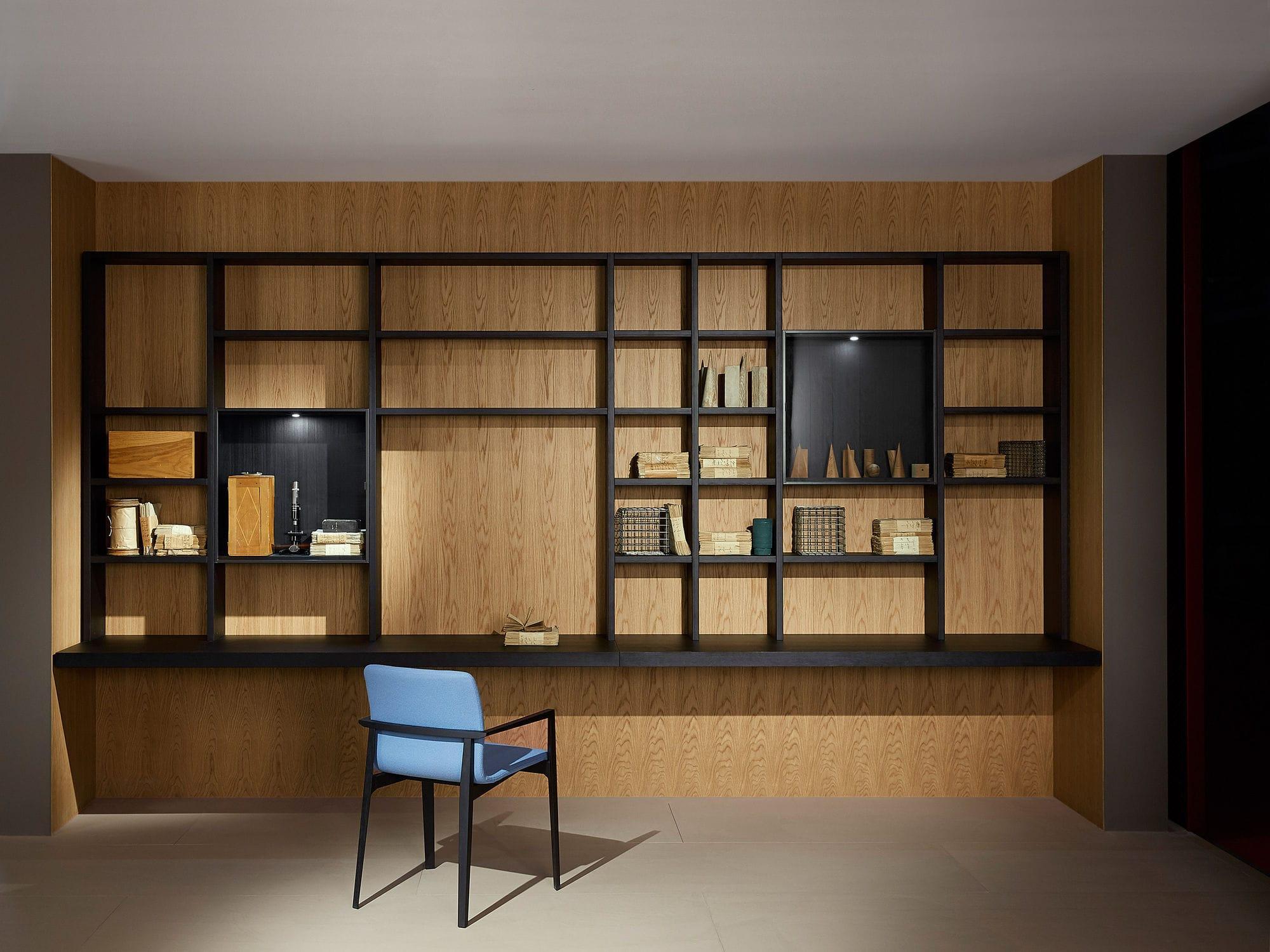 Libreria Vetrina Ufficio : Libreria moderna per ufficio in legno laccato in alluminio