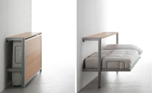 Letto a scomparsa / singolo / moderno / in legno - LA LITERAL - Sellex