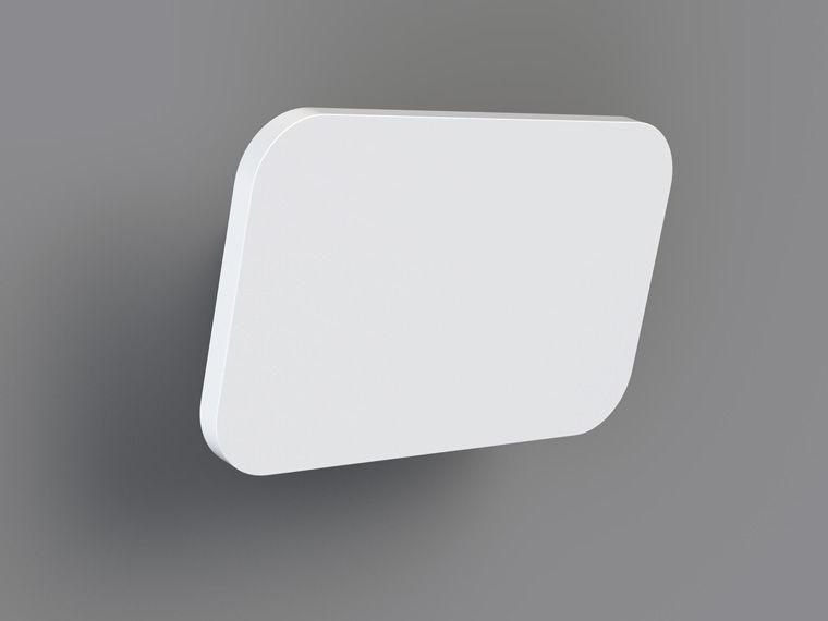 Applique moderna in alluminio led rettangolare xt s plate