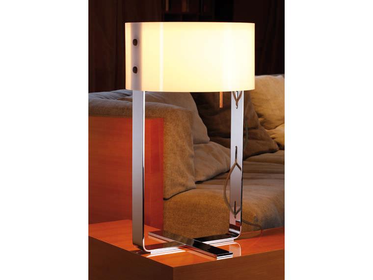 Lampade In Vetro Soffiato : Lampada da tavolo moderna in alluminio in vetro soffiato
