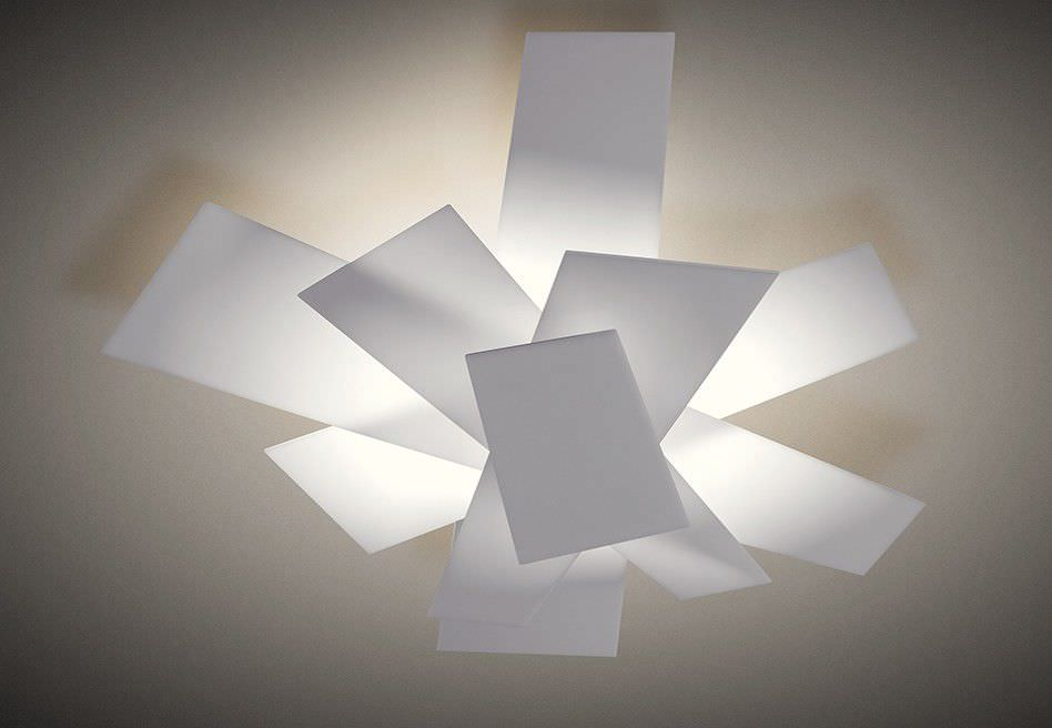 Plafoniere Foscarini : Plafoniera design originale in metallo laccato metacrilato