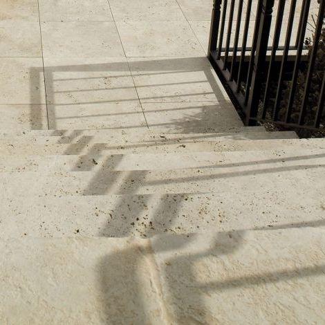 piastrella da esterno / per pavimento / in travertino / anticata ... - Pavimenti In Travertino