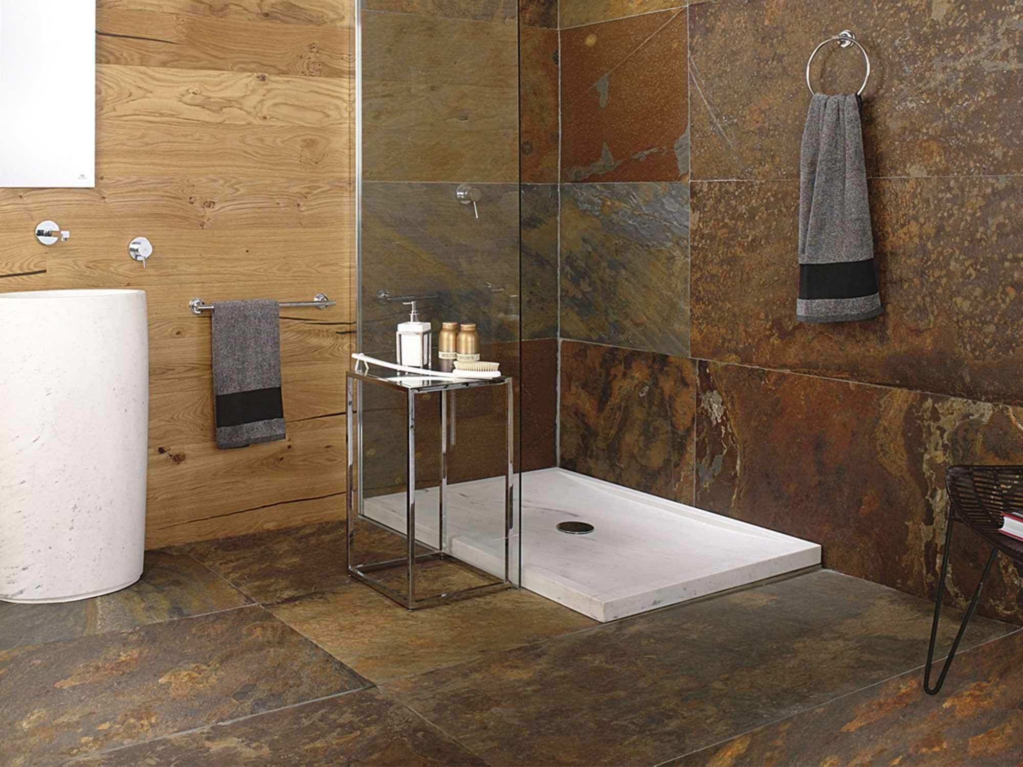 Extrêmement Piatto doccia rettangolare / in pietra naturale - SAMUI - L'ANTIC  AR97