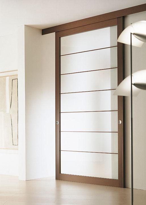 Porta da interni / scorrevole / in legno / a tutta altezza - FLUO - Movi