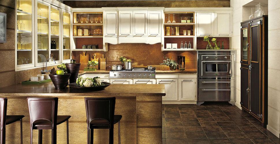 Cucina classica / in legno / a U / laccata - LIVING - L\'OTTOCENTO