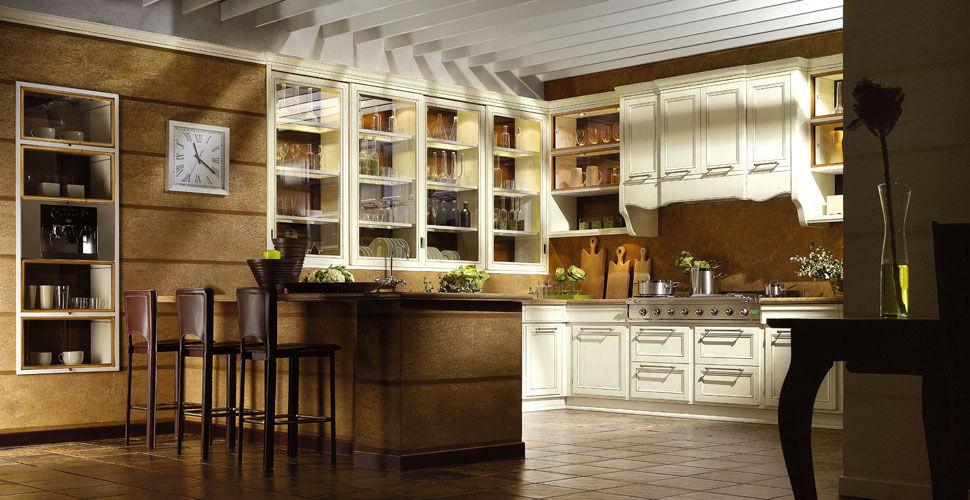 Cucina classica / in legno laccato / a U / con impugnature - LIVING ...
