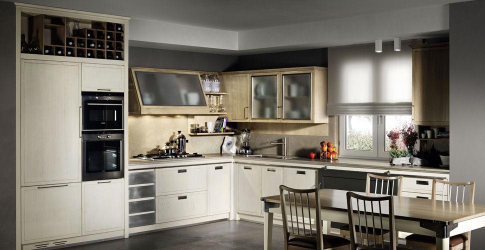 Cucina moderna / in legno / a L - INDUSTRIAL - L\'OTTOCENTO
