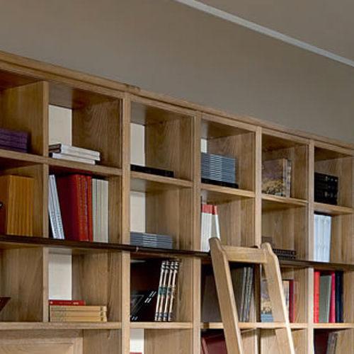 Libreria moderna / in legno / con scala integrata - EVITA - L\'OTTOCENTO