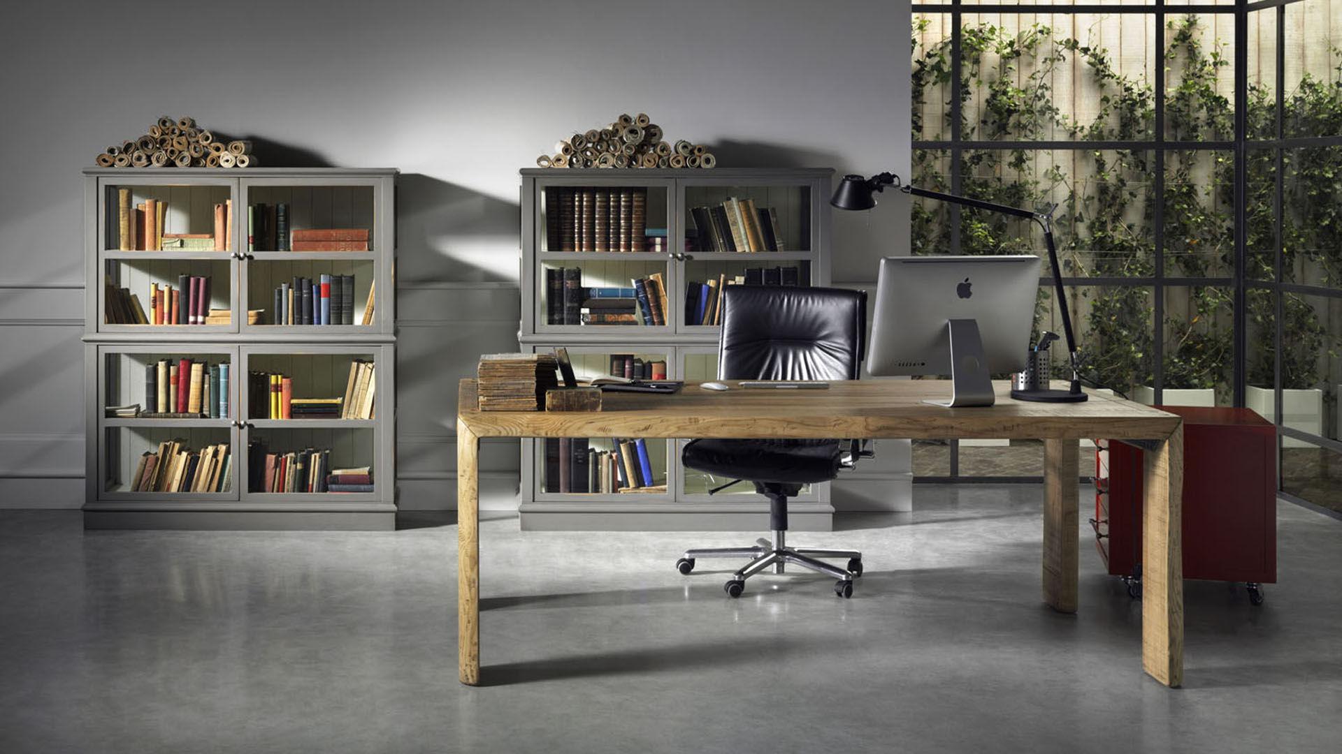 Credenza Per Veranda : Libreria classica per ufficio in legno laccato