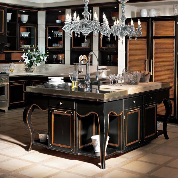 Cucina classica / in legno massiccio / con isola - LIVING - L\'OTTOCENTO