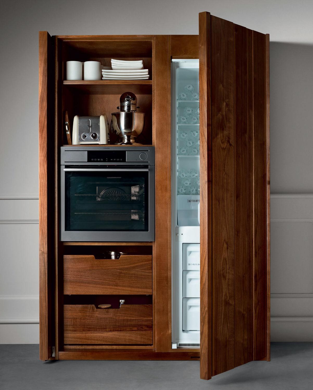 Mobile alto per cucina moderno / in noce - CANALETTO - L\'OTTOCENTO