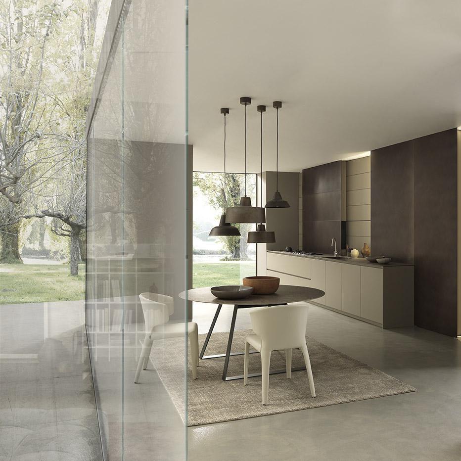 Cucina moderna / in legno / laccata / opaca - BLADE - MODULNOVA