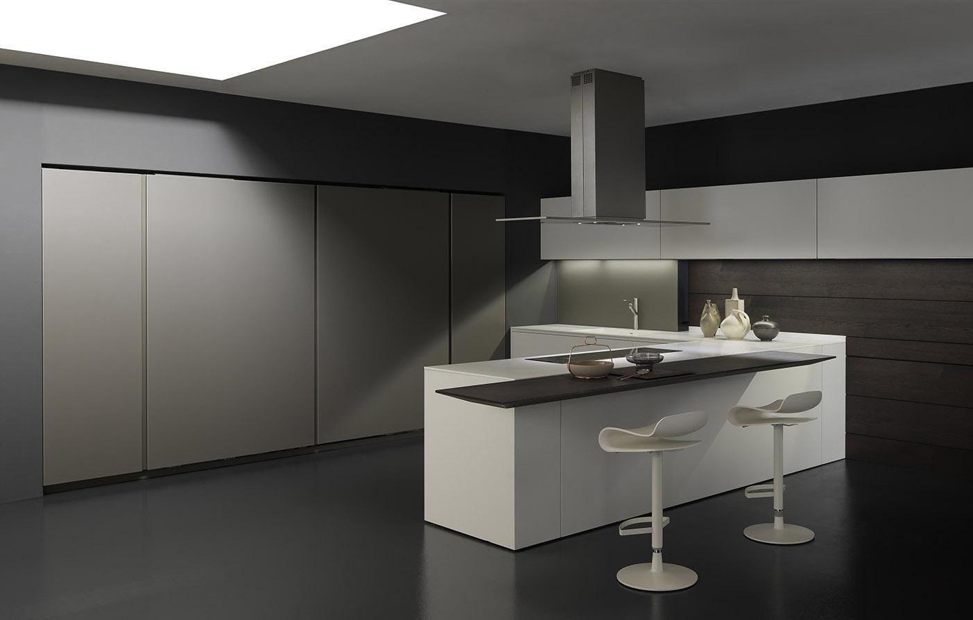 Cucina moderna / in laminato / a L / laccata - LIGHT - MODULNOVA