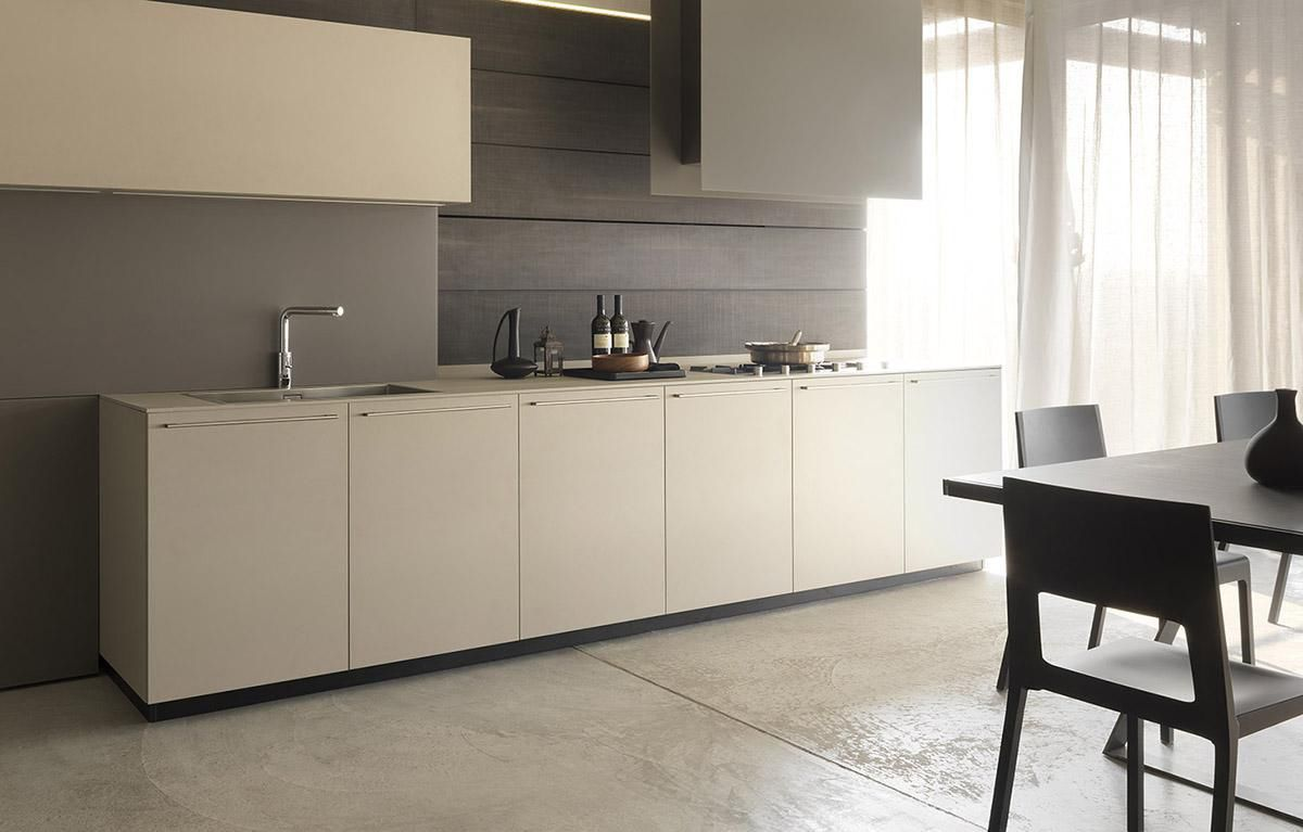 cucina moderna in legno in melamminico laccata mh6 modulnova