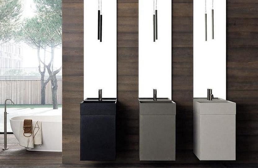 Vasca Da Bagno Infinity Prezzo : Mobile lavabo sospeso in legno moderno laccato infinity
