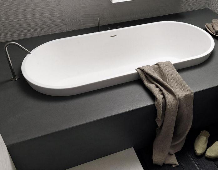 Vasca Da Bagno Incasso Ovale : Vasca da bagno ovale in resina twenty modulnova