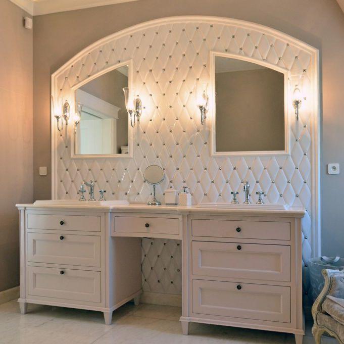 Mobile da bagno classico / in legno / con specchio - OTHER - AKAN ...